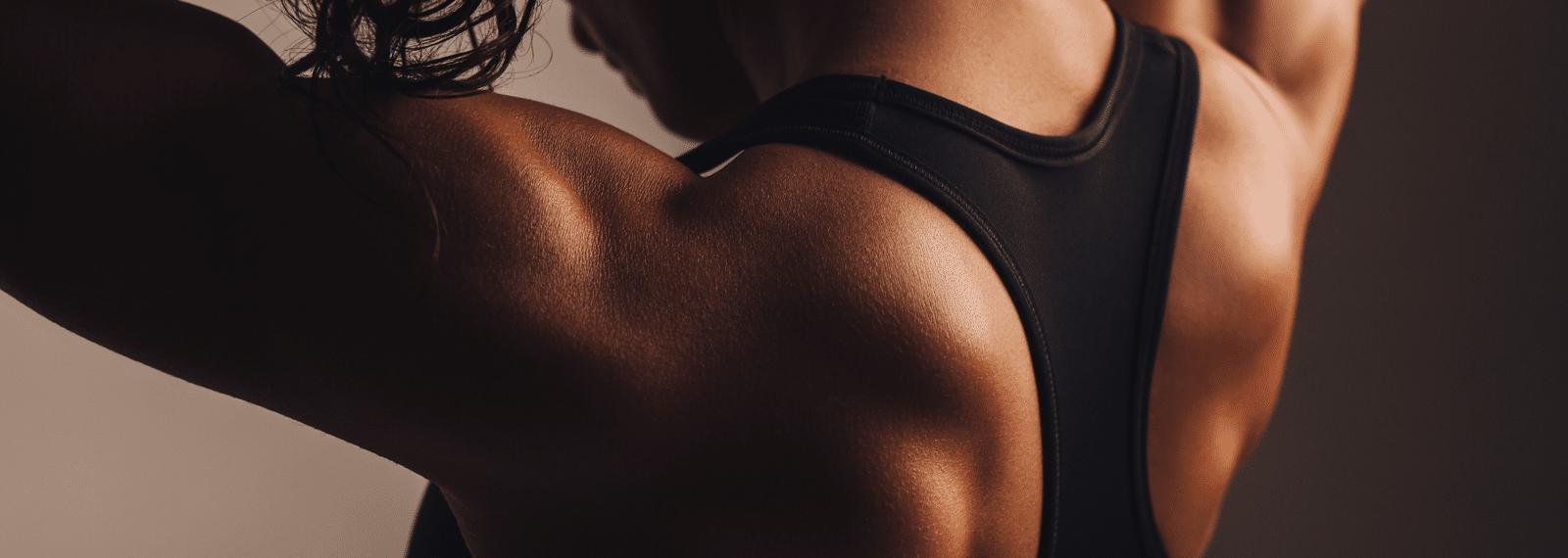 Rückenmuskulatur einer Frau