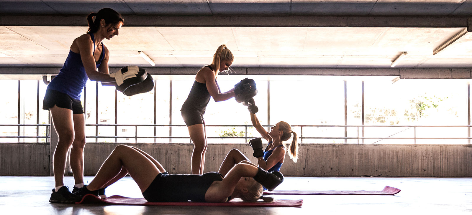 Fitness-Boxen Gruppenworkout