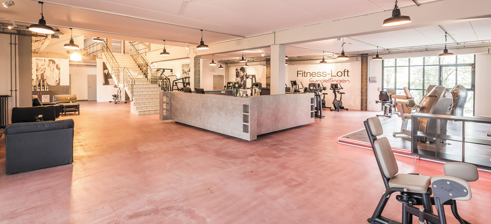 Fitness-Loft Gundelfingen an der Rezeption