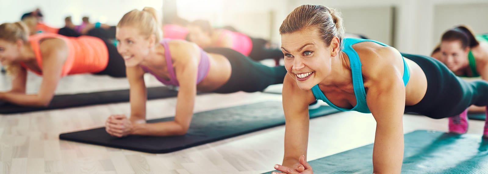 Plank im Fitnesskurs