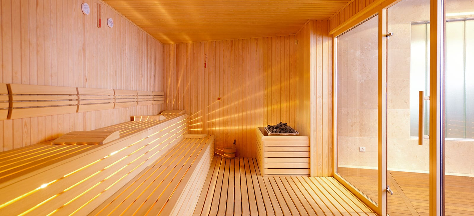 Finnische Sauna in den Lofts