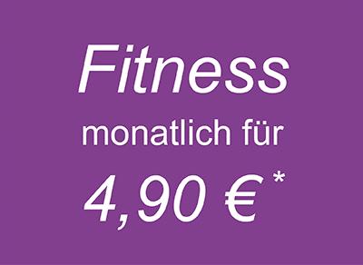 Fitness für Frauen für 4,90 € mtl.