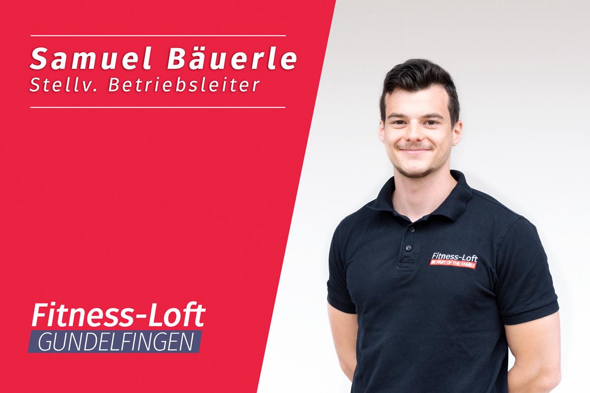 Samuel Bäuerle, stellvertretender Betriebsleiter im Fitness-Loft Gundelfingen