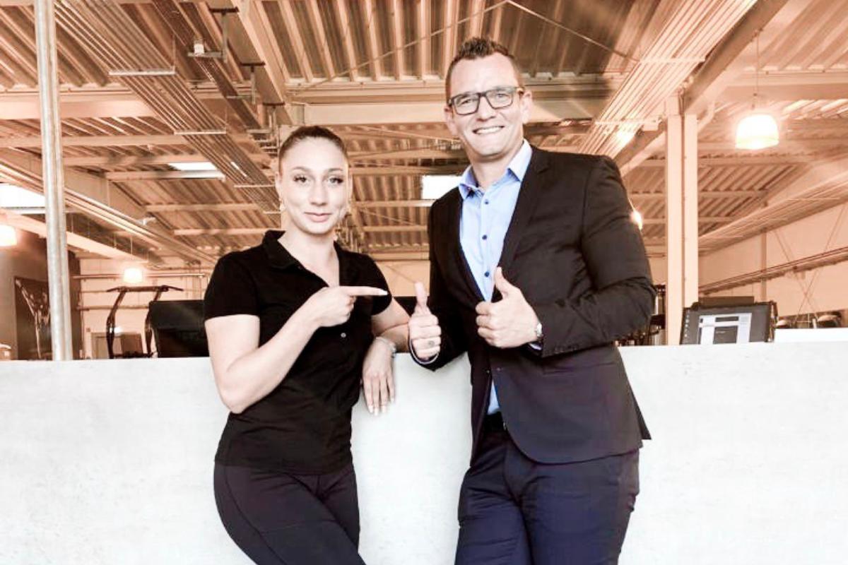 100. Mitglied mit Katja im Fitness-Loft Denzlingen