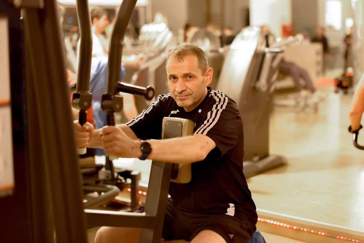 Erfolgsstory: Dietmar beim Training im Fitness-Loft Haid Freiburg