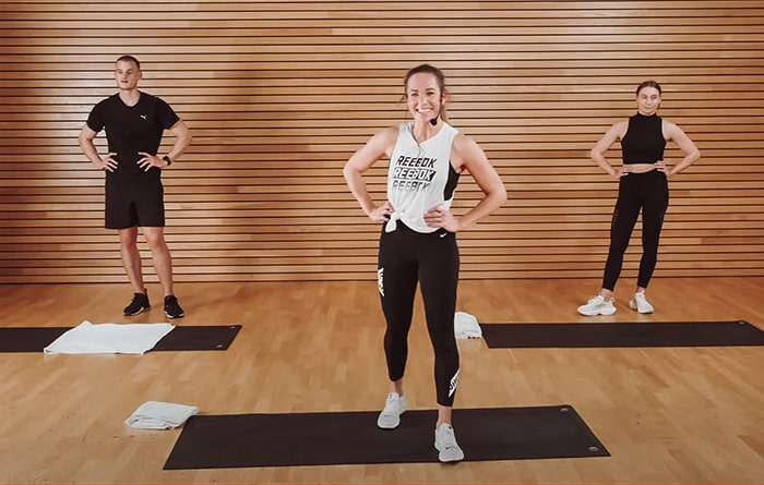 Live Home Workout mit Ilona