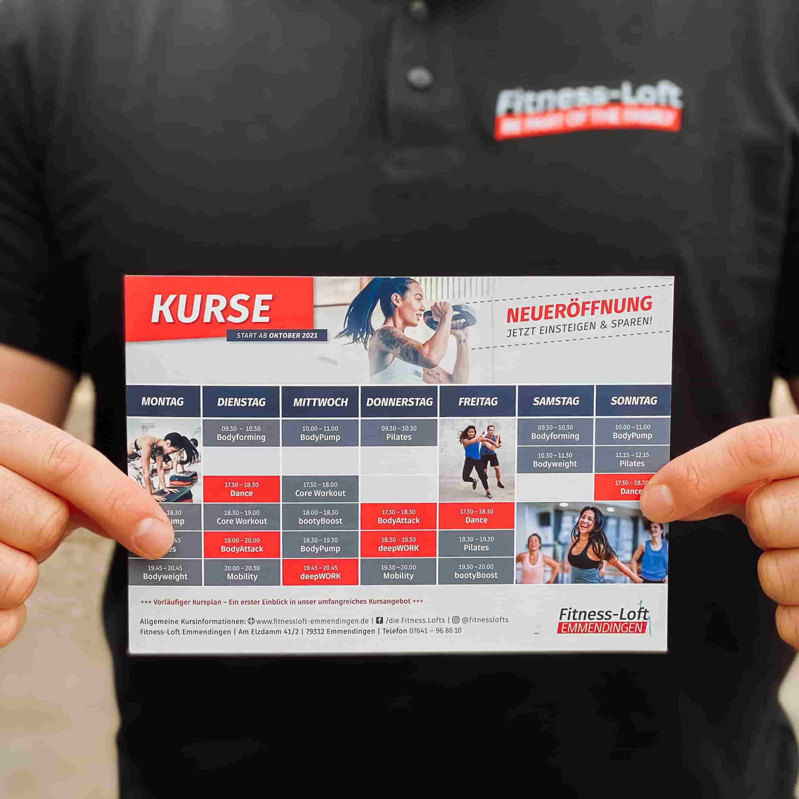 Kursplan Fitnessstudio Fitness-Loft Emmendingen