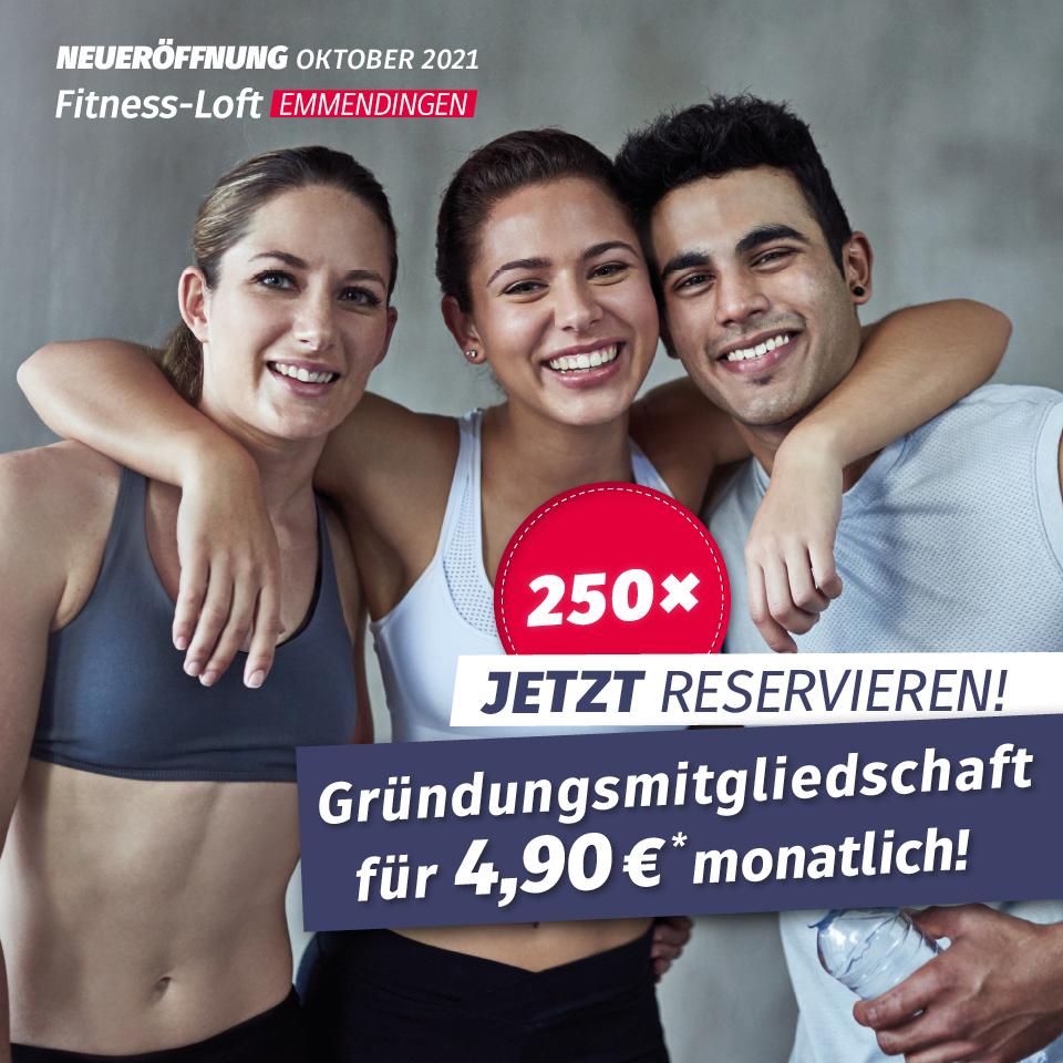 Gründungsmitgliedschaft Fitness-Loft Emmendingen 4,90 Euro